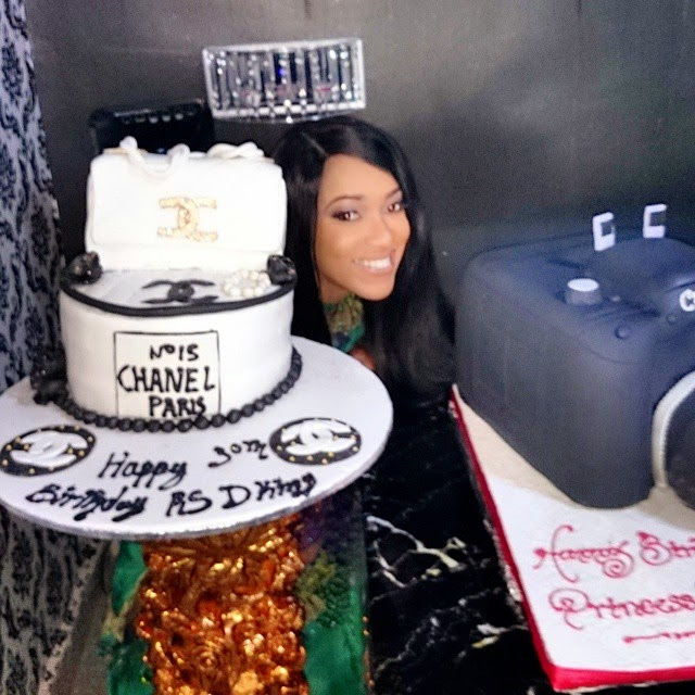 Ghanaian Nigerian Actress Rukky Sandas Camera Channel Bag