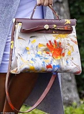 Kim K flaunts expensive Hermes bag hand painted by North